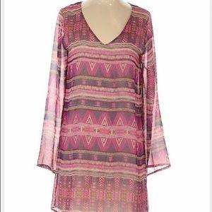 Filly Flair Aztec long sleeve dress Sz Small